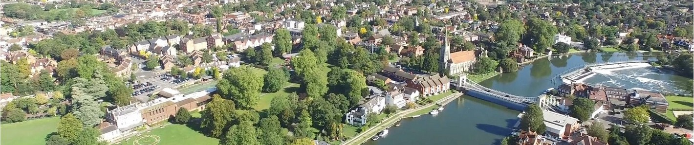Aerial view of Marlow