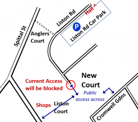 Liston Rd - New Court access