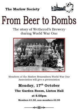 From Beer to Bombs - Wethereds Brewery during WW1