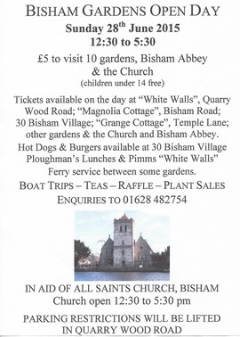 Bisham Gardens Open Day 2015
