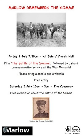 Marlow Remembers The Somme 01-Jul-2016