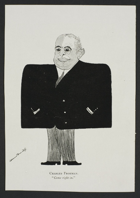 Caricature of Charles Frohman by Leonard Hamilton