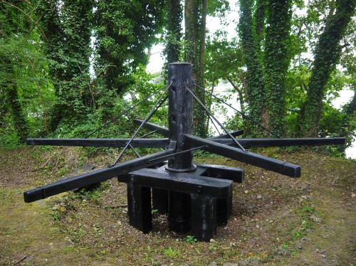 The restored Hurley winch at Wittington