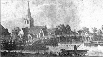 Church and Weir picture in The Marlow Historian Vol 6